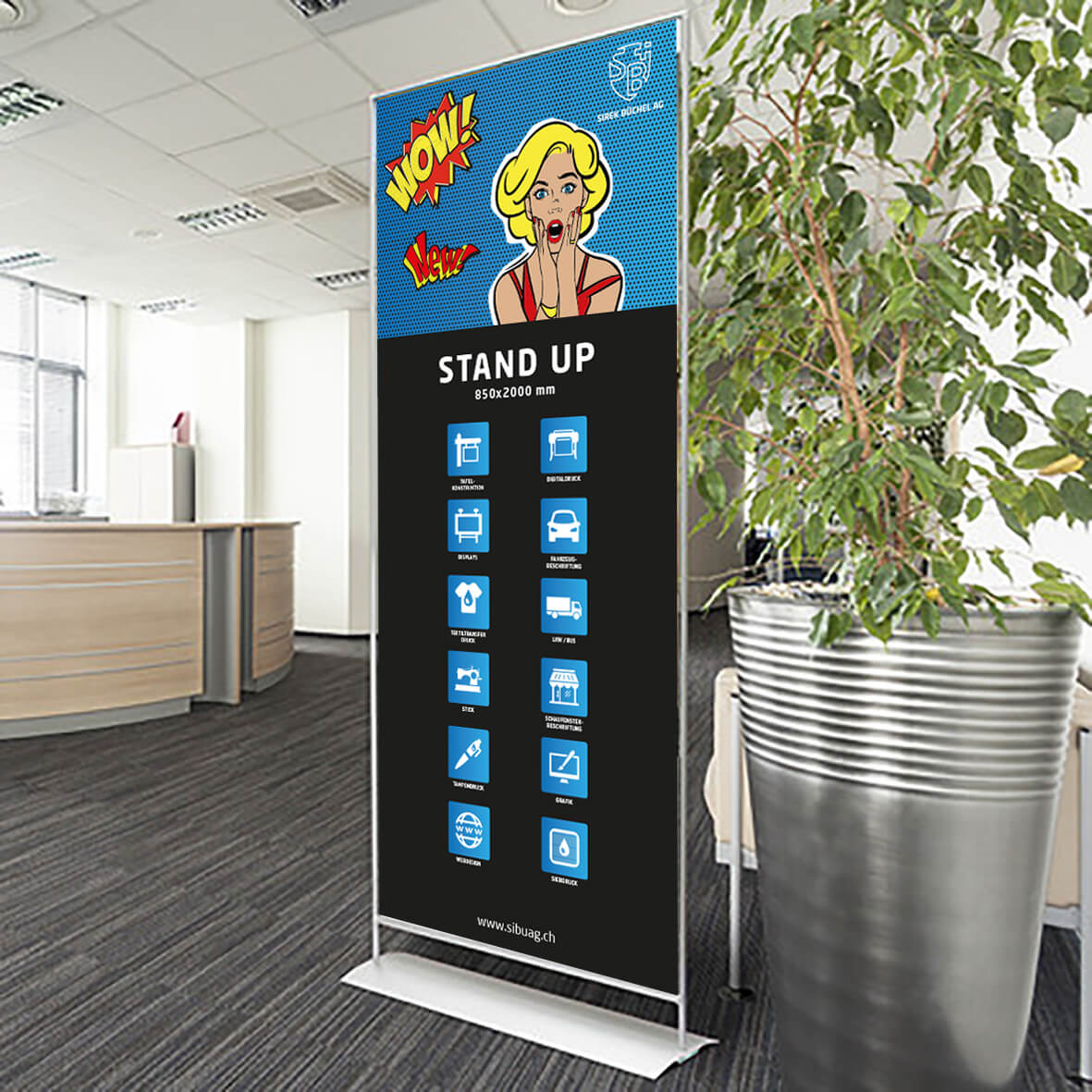 Stand Up Display System